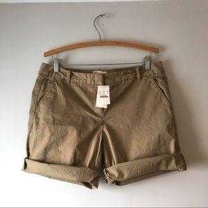 NWT J. Crew Khaki Shorts Size 10 Career Work